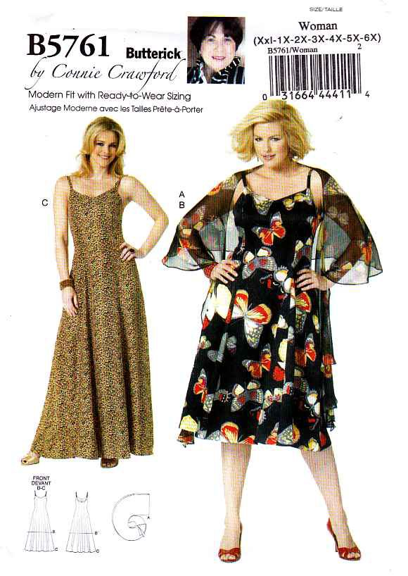 Butterick Sewing Pattern 5761 Womens Plus Size 18w 44w