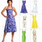 Vogue Sewing Pattern 8184 V8184 Misses Size 18-22 Easy Options Dress Straight Flared Skirt Halter