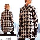 Vogue Sewing Pattern 1320 V1320 Misses Sizes 6-14 Easy Issey Miyake Lined Button Front Coat