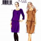 Vogue Sewing Pattern 8684 Misses Sizes 6-12 Easy Close-Fitting Dropped Waist Dress