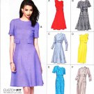 Vogue Sewing Pattern 8828 Misses Sizes 14-22 Easy Lined Dress Sleeve Skirt Options