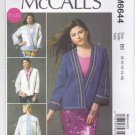 McCalls Sewing Pattern 6644 Misses Sizes 8-16 Reversible Quilted Long Sleeve Jacket