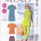 McCalls Sewing Pattern 6758 Womens Plus Sizes 18W-24W Easy Tunics Dress Shorts Pants