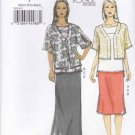 Vogue Sewing Pattern 8914 Misses Sizes 4-14 Easy Jacket Pullover Tunic Top Straight Skirt
