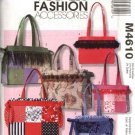 McCall's Sewing Pattern MP275 4610 Lined Fashion Patchwork Quilted Tote Bags Purses Handbags