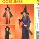 McCall's Sewing Pattern 4620 M4620 Girls Size 3-6 Witch Halloween Costumes Dress Pointed Hat