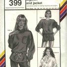 "Stretch & Sew Sewing Pattern 399 Misses Bust Sizes 30-46"" Drawstring Bigshirt Jacket"