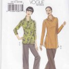 Vogue Sewing Pattern 8699 Misses Size 8-14 Easy Knit Pullover Top Tunic Long Capri Pants