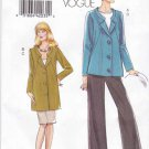 Vogue Sewing Pattern 8464 Misses Size 18-24 Easy Lined Jacket Straight Skirt Pants