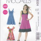 McCall's Sewing Pattern 6324 Misses Size 8-16 Easy Zipper Front Summer Dress