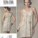Vogue Sewing Pattern 1229 V1229 Misses Size 6-12 Easy Vena Cava Pullover A-Line Sleeveless Dress
