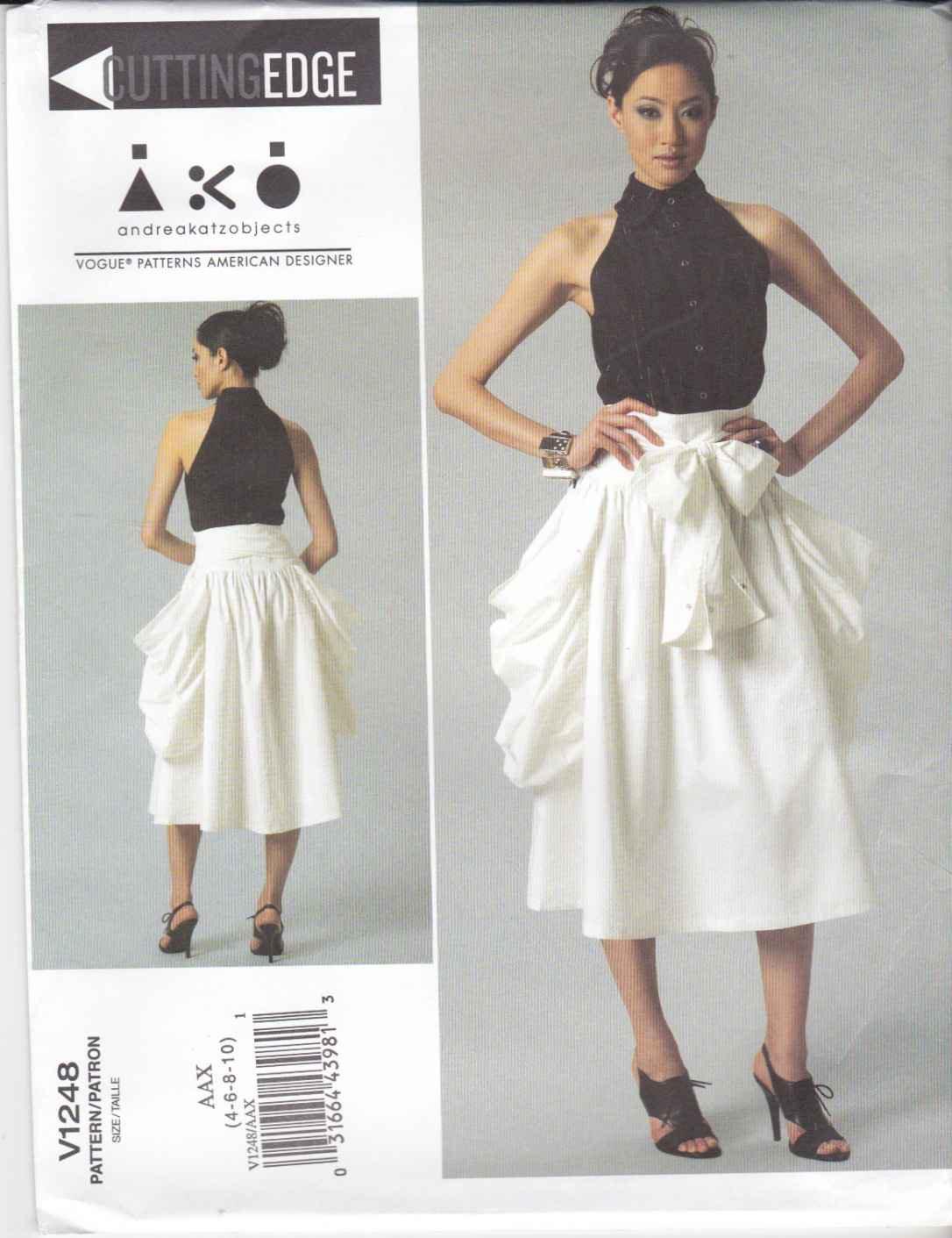 Vogue Sewing Pattern 1248 Misses Size 4-10 AKO Andreakatzobjects Sleeveless Top Skirt