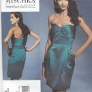 Vogue Sewing Pattern 1273 V1273 Misses Size 4-10 Badgley Mischka Strapless Straight Lined Dress