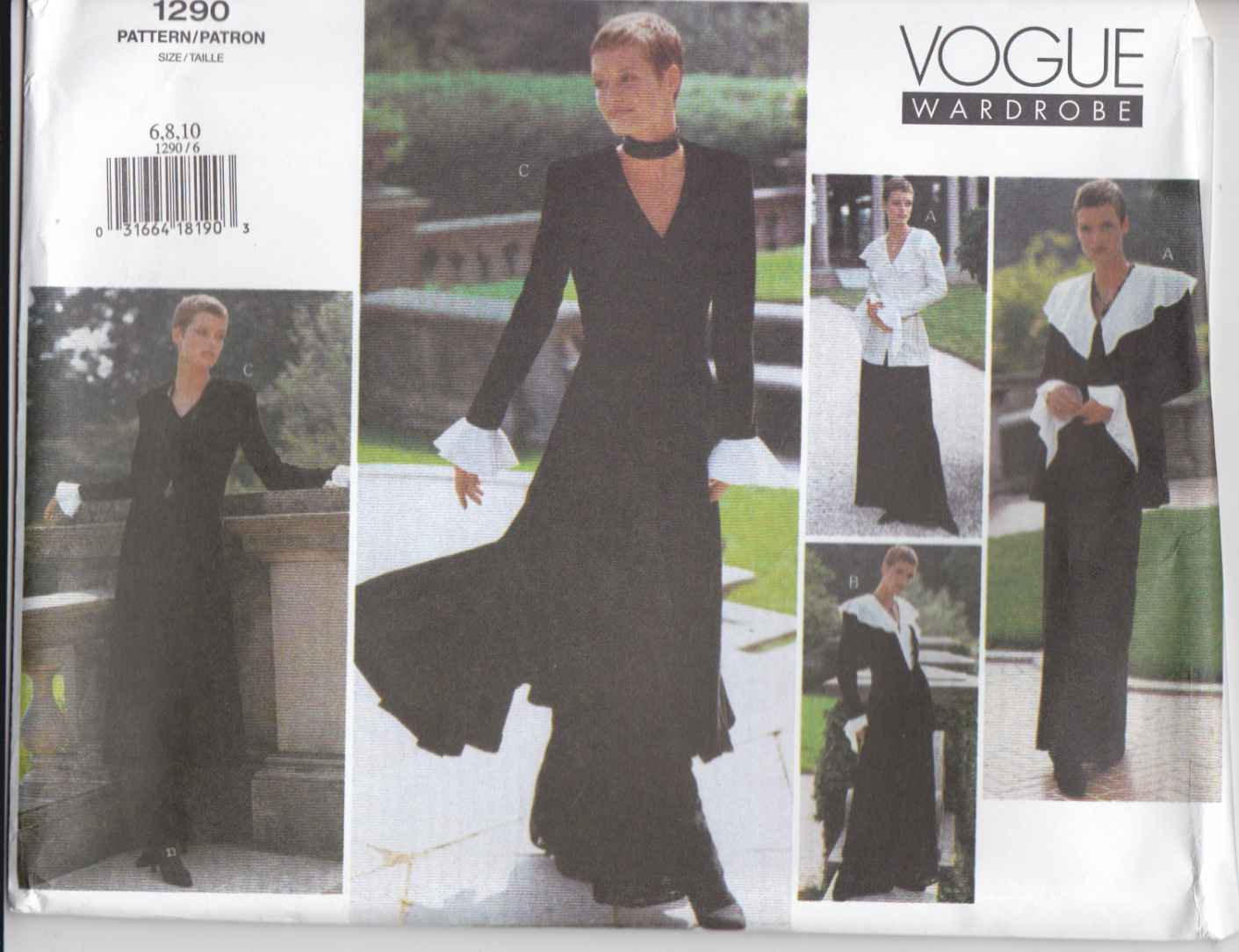 Vogue Sewing Pattern 1290 Misses Size 12-16 Easy Wardrobe Jacket Dress Top Pants