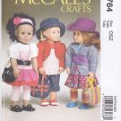 "McCall's Sewing Pattern 6764 M6764 18"" Doll Clothes Laura Ashley Dress Hat Skirt Jacket Pants"