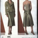 Vogue Sewing Pattern 2862 V2862 Misses Size 6-10 Bias Skirt Lined Button Front Jacket Suit DKNY