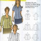 Butterick Sewing Pattern 5538 B5538 Misses Size 3-16 Easy Button Front Blouse Sleeve Options