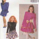 Butterick Sewing Pattern 5127 Girls Sizes 7-10 Dropped Waist Dress Long Sleeves
