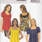 Butterick Sewing Pattern 5217 Misses Sizes 8-14 Easy Pullover Loose-Fitting Tops Sleeve Hem Options