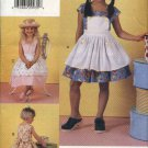 Vogue Sewing Pattern 7069 V7069 Girls Size 2-3-4 Easy Ruffled Skirt Sundress Attached Apron