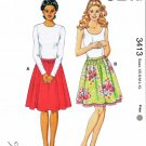 Kwik Sew Sewing Pattern 3413 Misses Size XS-XL (approx. 8-22) Gathered Dirndl Skirts