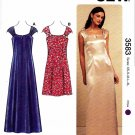 Kwik Sew Sewing Pattern 3583 Misses Sizes XS-XL (approx. 8-22) Short Long Formal Dress