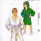 Kwik Sew Sewing Pattern 1440 Boys Size 4-7 Belted Wrap Front Bath Robe Optional Hood