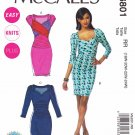 McCall's Sewing Pattern 6801 Womens Plus Size 18W-24W Easy Knit Dress Sleeve Options