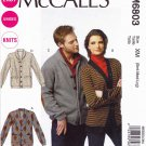 "McCall's Sewing Pattern 6803 Men's Misses' Chest Size 46-56"" Easy Knit Button Front Cardigans"