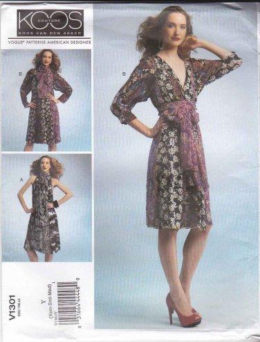 Vogue Sewing Pattern 1301 V1301 Misses' 4-14 Koos Van Den Akker Color Blocked Dress