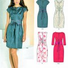 New Look Sewing Patterns 6067 Misses Sizes 6-16 Fitted Straight Dress Sleeve Options Belt