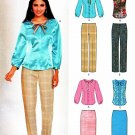 New Look Sewing Patterns 6081 Misses Sizes 10-22 Fitted Button Front Blouse Pants Straight Skirt
