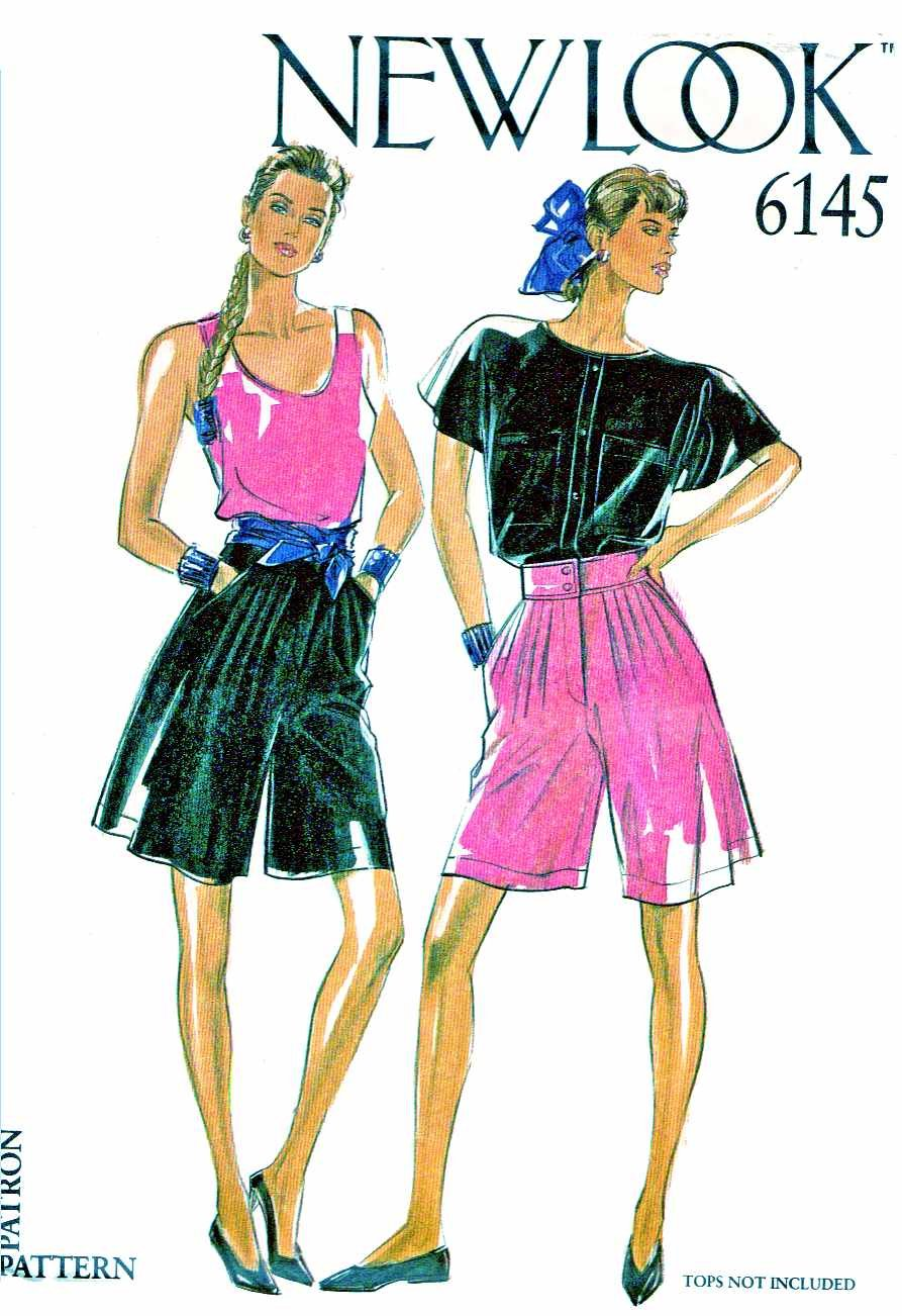 New Look Sewing Patterns 6145 Misses Sizes 8-18 Loose Fitting Split-Skirt Culottes City Shorts