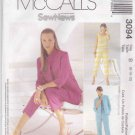 McCalls Sewing Pattern 3094 Misses' Size 12-16 SewNews Jacket Top Pants Capris