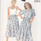New Look Sewing Pattern 6861 Misses Sizes 8-18 Full Gathered Skirt Tank Top Button Front Shirt