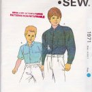 Kwik Sew Sewing Pattern 1971 Boys Sizes 4-7 Button Front Shirt Long Short Sleeves