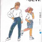 Kwik Sew Sewing Pattern 2193 Girls Sizes 4-7 Classic Blue Jeans Shorts