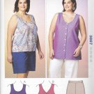 Kwik Sew Sewing Pattern 3867 Women's Plus Size 1X-4X (approx 22W-32W) Shorts Sleeveless Top Tunic