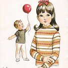 Kwik Sew Sewing Pattern 306 Girls Boys Sizes 2-6 Classic Pullover T-Shirt Long Short Sleeves