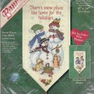 "Dimensions 8626 Counted Cross Stitch Kit 8"" X 14"" Snow Place Like Home Banners for a Cozy Home"