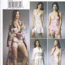 Vogue Sewing Pattern 8888 V8888 Misses Size 14-20 Easy Robe Camisole Slip Panties Lingerie