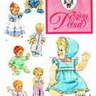 "Design Debut Sewing Pattern 0078 13"" - 18"" BABY Doll Clothes Wardrobe Dress Sleeper Pajamas"