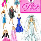 "Design Debut Sewing Pattern 0076 Wardrobe 11 1/2"" Fashion Doll such as Barbie"