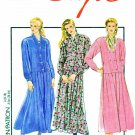 Style Sewing Pattern 1996 Misses Sizes 8-18 Button Front Dropped Waist Dress Long Sleeves