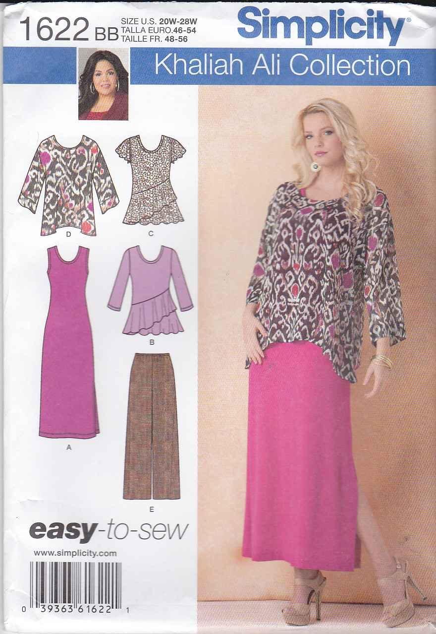 Simplicity Sewing Pattern 1622 Womens Plus Sizes 20w 28w