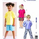 Kwik Sew Sewing Pattern 3149 Boys Girls Toddlers Sizes 1-4 Knit Shirts Tops Pants Shorts