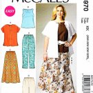 McCalls Sewing Pattern 6970 M6970 Womens Plus Size 18W-24W Easy Top Skirt Pants Shorts Shirt