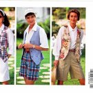 Butterick Sewing Pattern 6219 Misses Size 12-16 Easy Shirt Button Front Vest Shorts