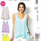 McCalls Sewing Pattern 6960 M6960 Misses Size 16-26 Easy Pullover Loose Fitting Sleeveless Top