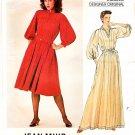 Vogue Sewing Pattern 2997 Misses Size 10 Jean Muir Designer Original Long Short Loose Dress